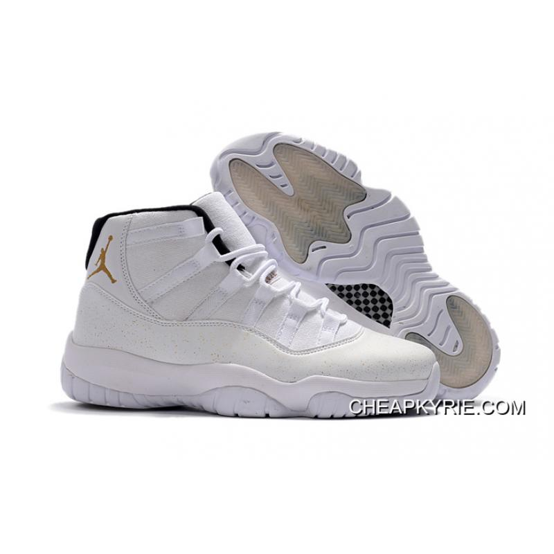 Free Shipping Air Jordan 11 OVO White Gold