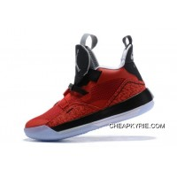 Authentic Air Jordan 33 Fire Red/Black-White