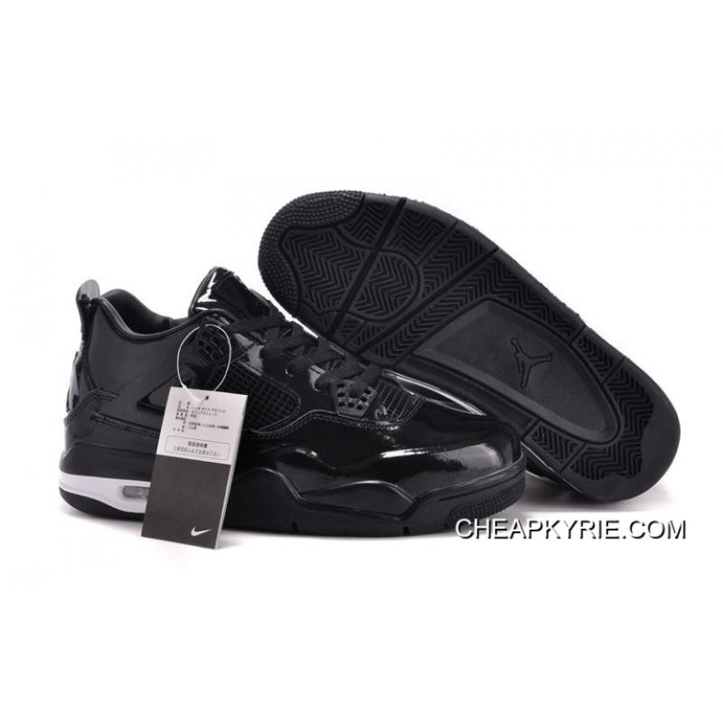 b81c93c343a6 Air Jordan 4 11Lab4 Black Patent Leather Cheap To Buy ...