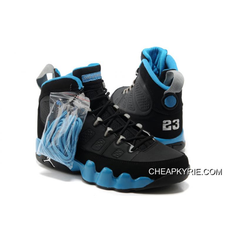 Air Jordan 9 BlackMatte SilverUniversity Blue Discount
