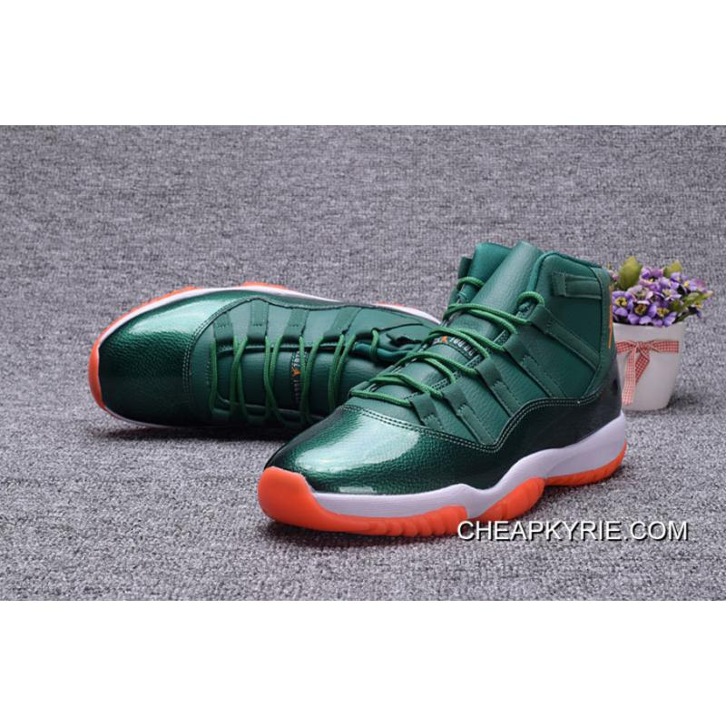 Air Jordan 11 GS Miami Hurricane PE Girl Size Discount