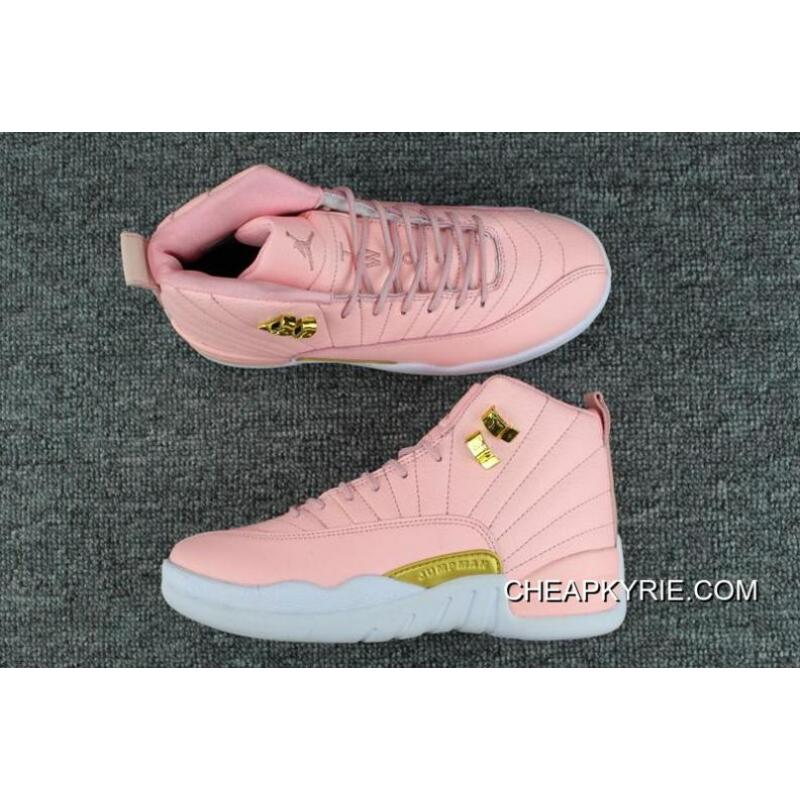 New Cheap Air Jordan 12 GSPink White Gold