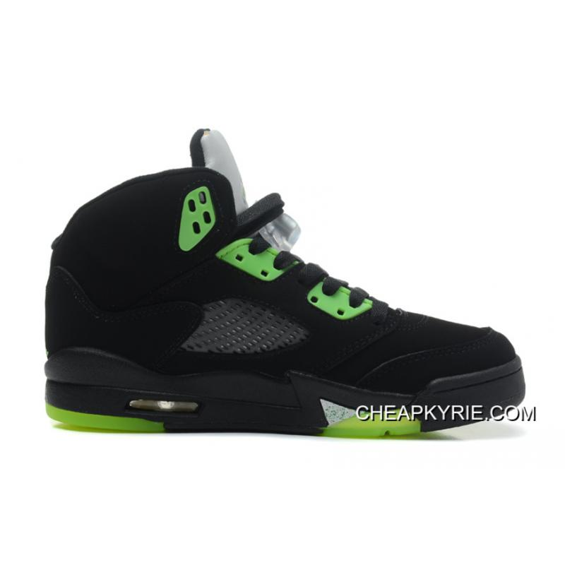 "5d1fd4f95f72 Air Jordan 5 Retro ""Quai 54″ Black Radiant Green Cheap To Buy ..."