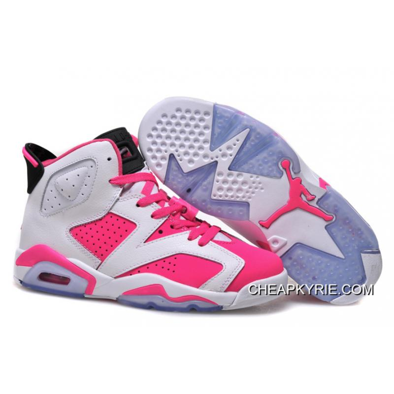 Air Jordan 6 Gs White Pink Free Shipping