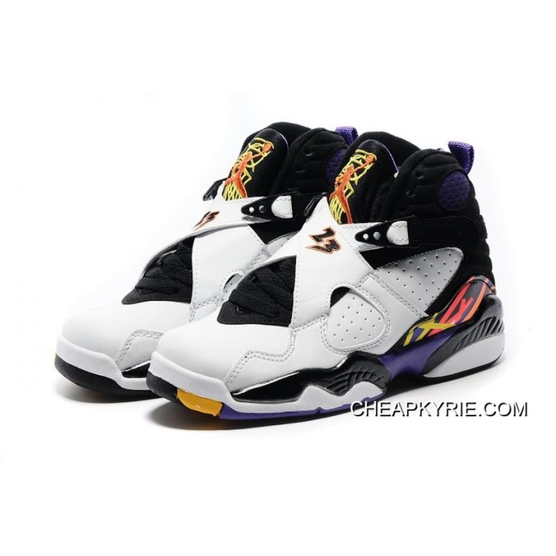 "... Air Jordan 8 ""Three Peat"" White/Infrared 23-Black-Bright Concord ..."