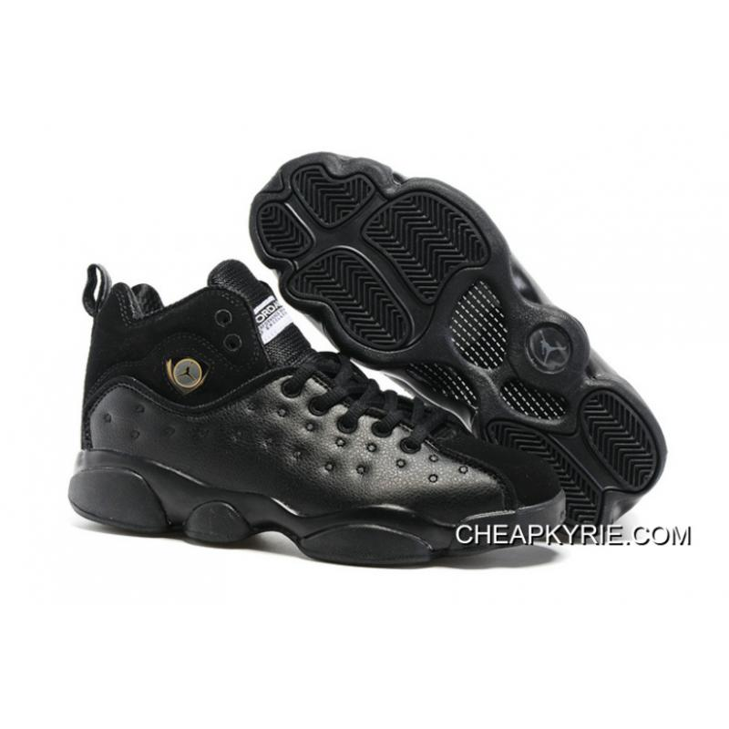 "e8a974e20bb0 Jordan Jumpman Team 2 GS ""Raging Bull"" All-Black New Style ..."