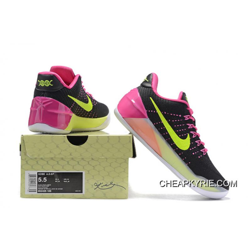 competitive price 98b51 00a1c ... Girls Nike Kobe A.D. Black Pink Green New Style