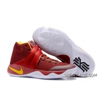 new products 2b51e 703f7 Girls Nike Kyrie 2 Cav Wine Red Yellow New Style
