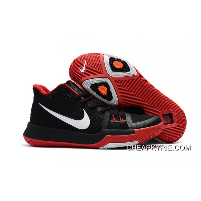 Girls Nike Kyrie 3 Black Red White Discount