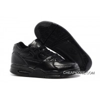 7ac1691ec6 Nike Air Flight '89 All Black Leather Basketball Shoes For Sale