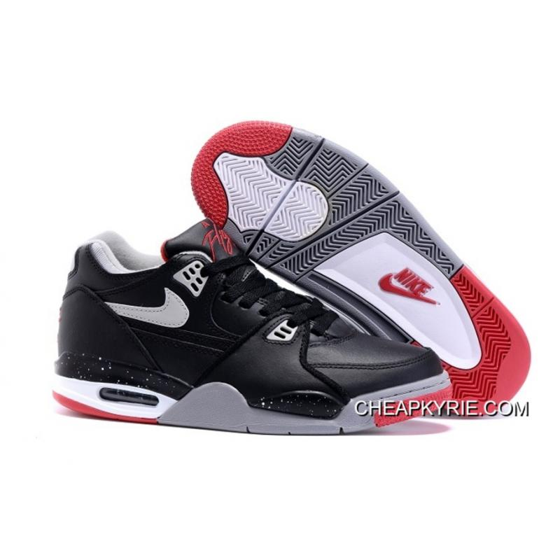 2015 Cheap Real Air Flight 89 AJ4 Black Red Shoes