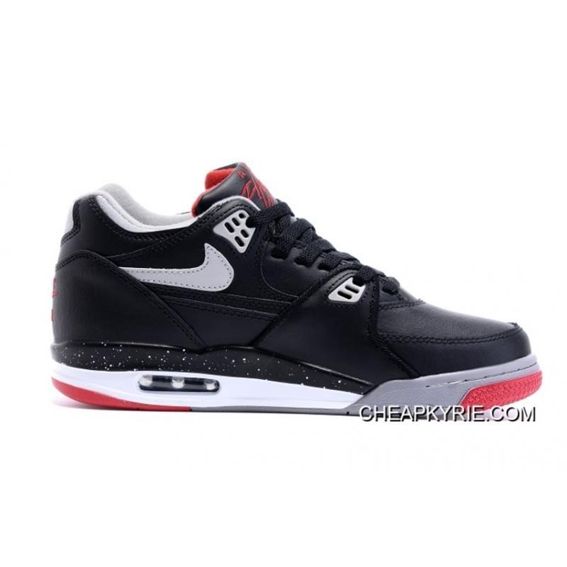 """grande vente ad21a fde4a Nike Air Flight '89 """"Bred"""" Black/Cement Grey-Fire Red-White Shoes Cheap To  Buy"""