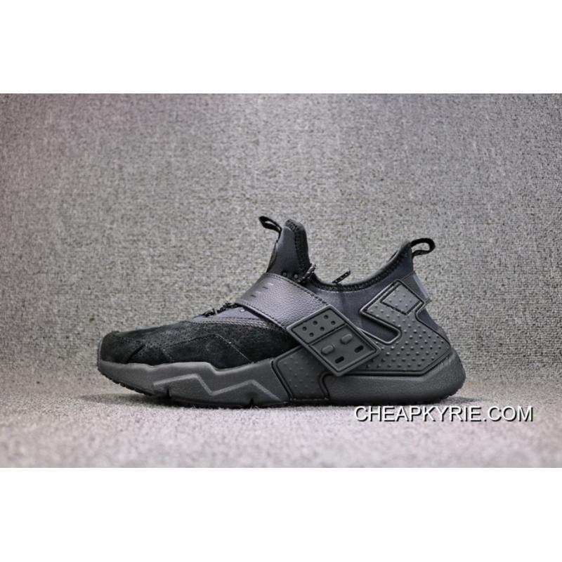 bb366f018397 ... 2018 New Style Nike Air Huarache 6 Generation All Black Retro Running  Shoes Suede Material Men ...