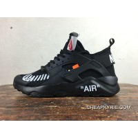 2018 New Release Nike Air Huarache 4 Customized Ultra Joint OFF-WHITE AA3841-001 All Black
