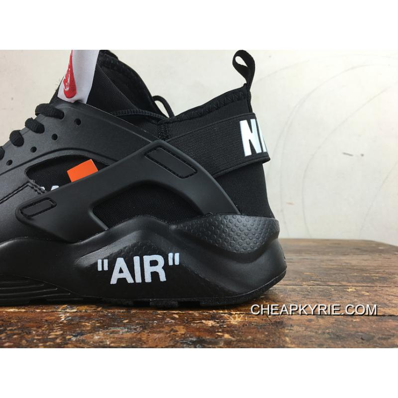 Nike Huarache 4 Customized Air Ultra Joint OFF-WHITE AA3841-001 All Black New Release