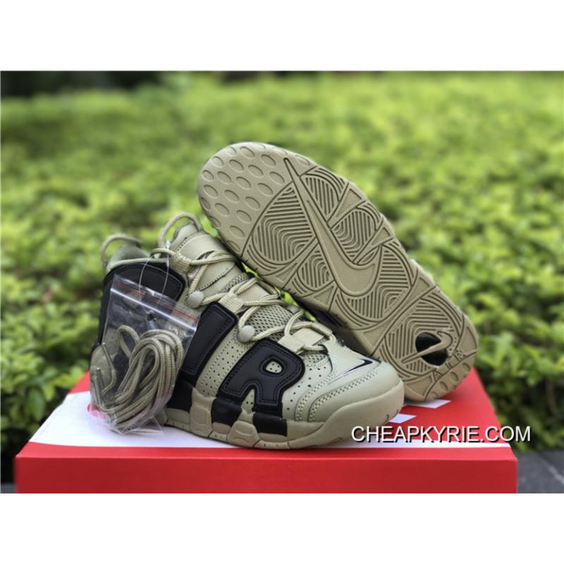 Nike Air More Uptempo Dark Stucco Black Men And Women Size Discount