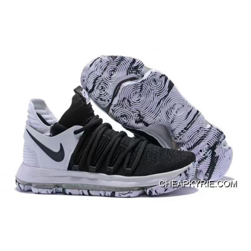 032ee034d606 Nike KD 10 Black And White For Sale ...