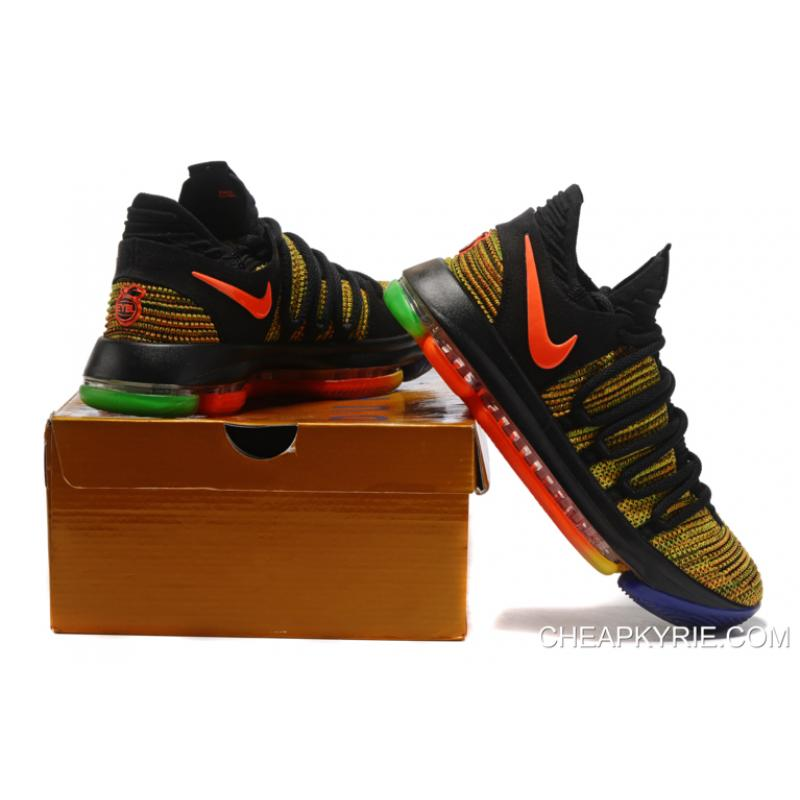 "... Nike KD 10 ""Peach Jam"" EYBL Multi-Color Top Deals"