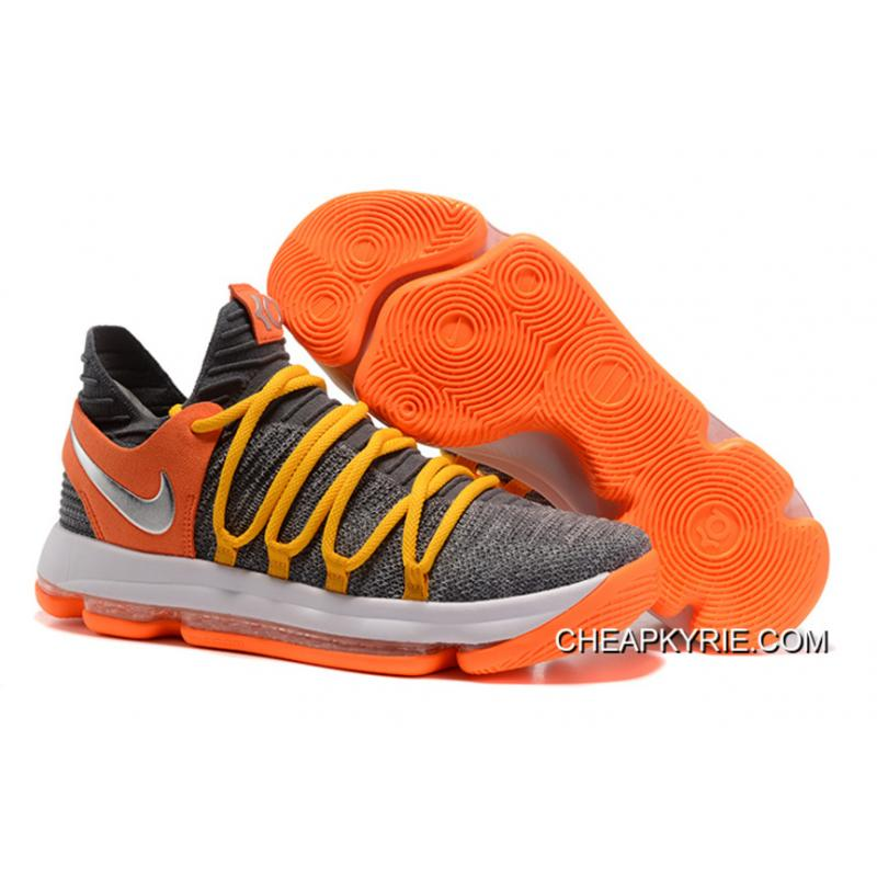 New Release Nike KD 10 EP Cool Grey Orange ...