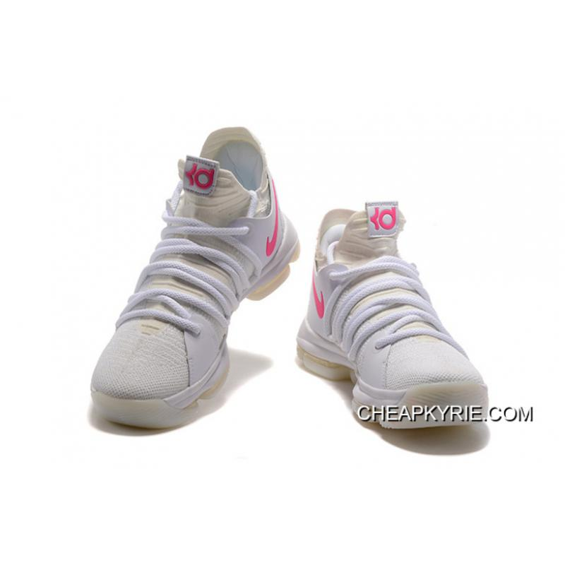 Top Deals Nike KD 10 White Pink Glow In The Dark