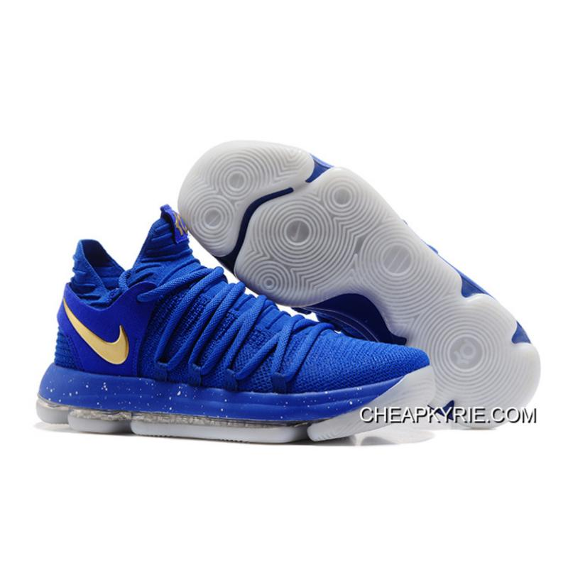 Nike KD 10 Finals PE Blue Gold Discount ...