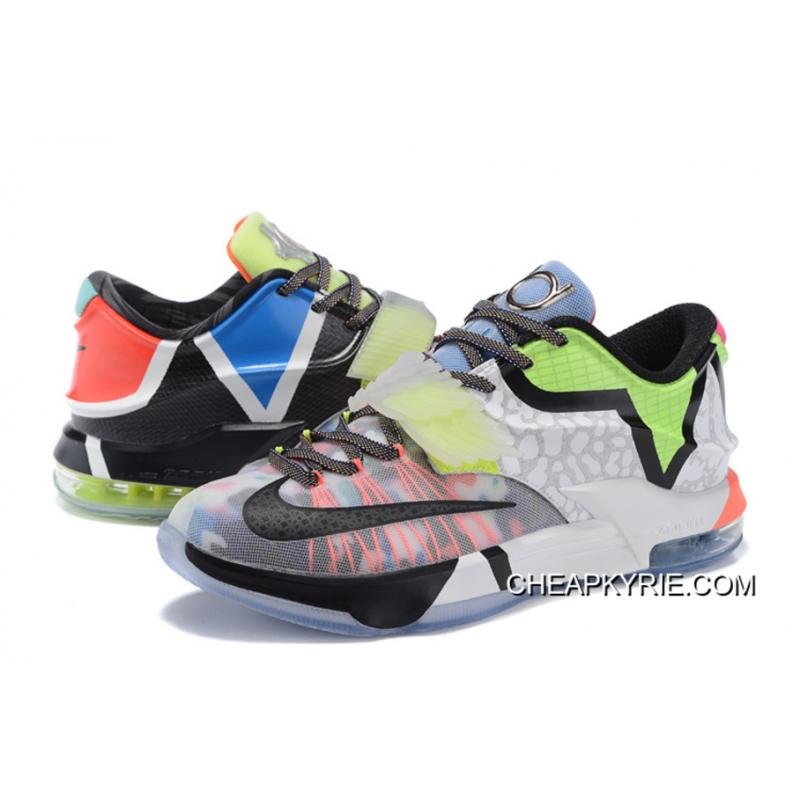 "best website 6ad31 4d449 ... Nike KD 7 ""What The"" Multi-Color Horizon-Black New Release ..."