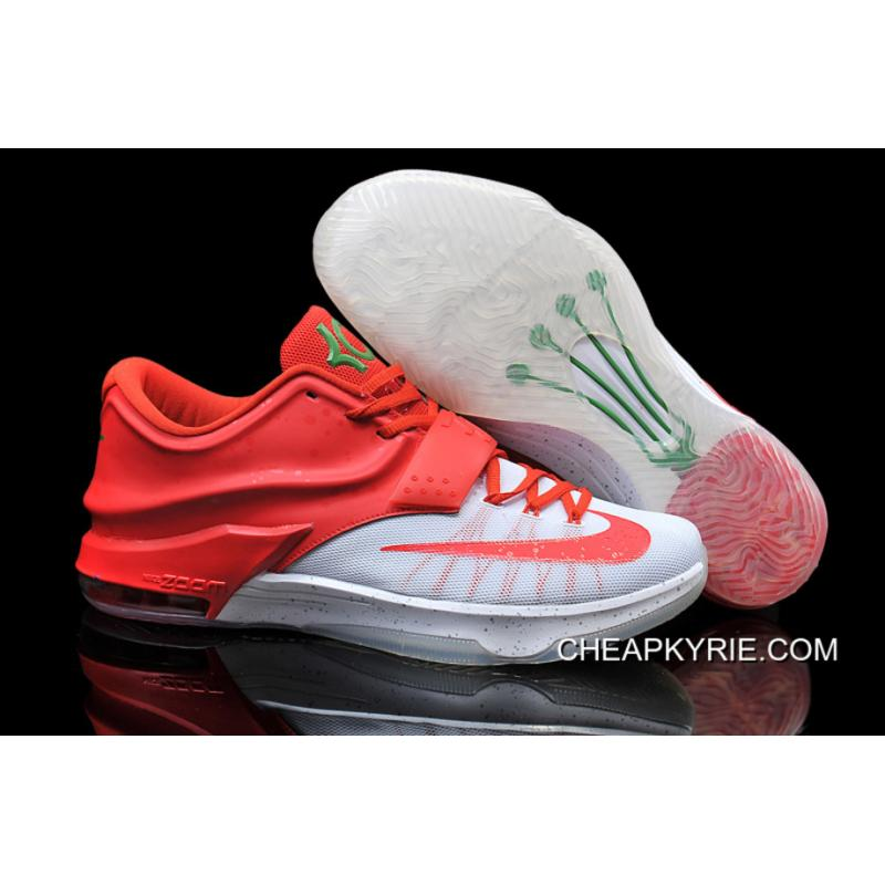 Nike Kevin Durant KD 7 VII Christmas Egg Nog WhiteRed Online For Sale