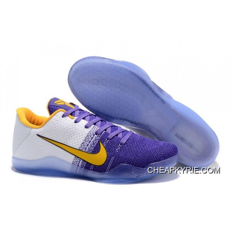 Nike Kobe 11 White Purple Yellow PE Copuon Code ...