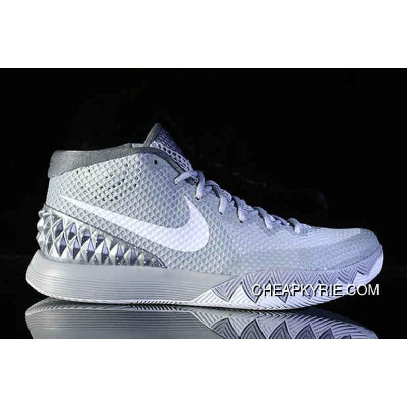 Nike Kyrie 1 Basketball Shoes Wolf Grey White Midnight Navy Pure Platinum  Free Shipping ...