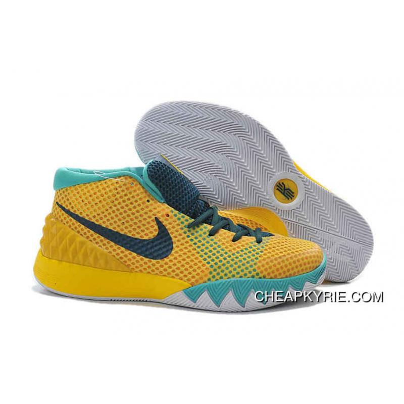 separation shoes 7fee9 22cd0 Nike Kyrie 1 Basketball Shoes Tour Yellow University Gold Light Retro Teal  Best ...