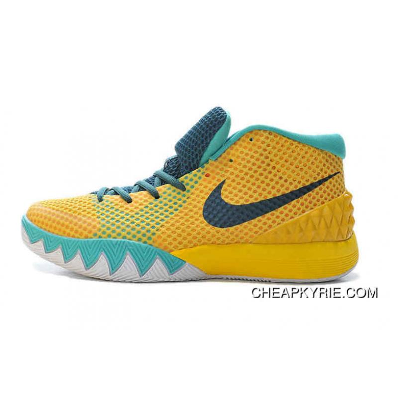 Mens Nike Kyrie 1 2016 Tour Yellow University Gold Light Retro Teal Shoes