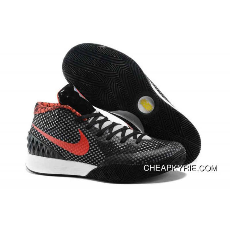 sports shoes 5c8bd 7283f Nike Kyrie 1 Basketball Shoes Black Red White Authentic