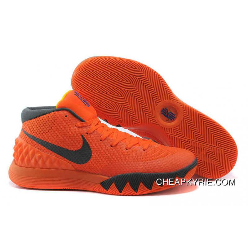 Authentic Nike Kyrie 1 Shoes Orange Dark Grey Cheap To Buy ...
