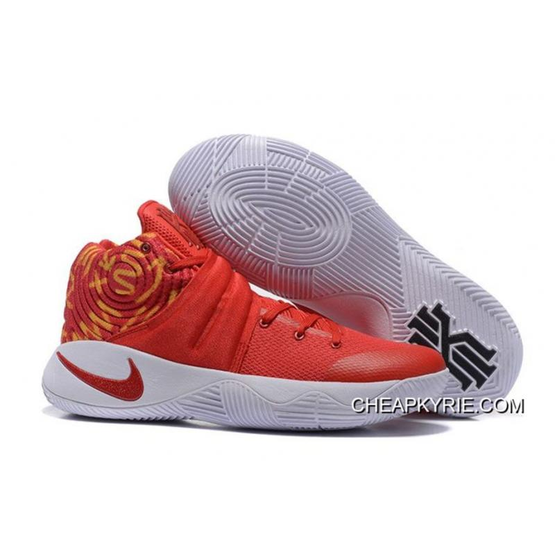 the latest 99d4f 7a4ac Nike Kyrie 2 Red White Basketball Shoes Super Deals