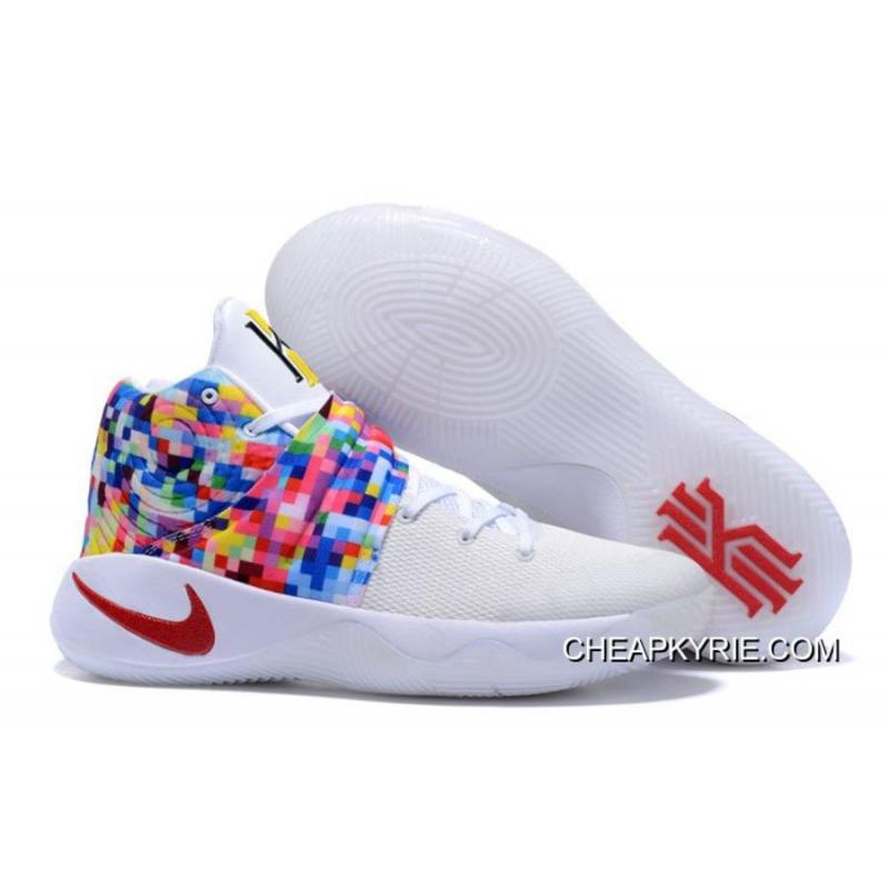 Copuon Girls Nike Kyrie 2 Effect WhiteRedMultiColor