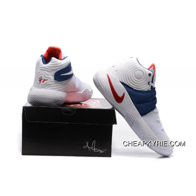 separation shoes 13192 f5d52 '4th Of July' Nike Kyrie 2 White/University Red-Deep Royal Blue Authentic