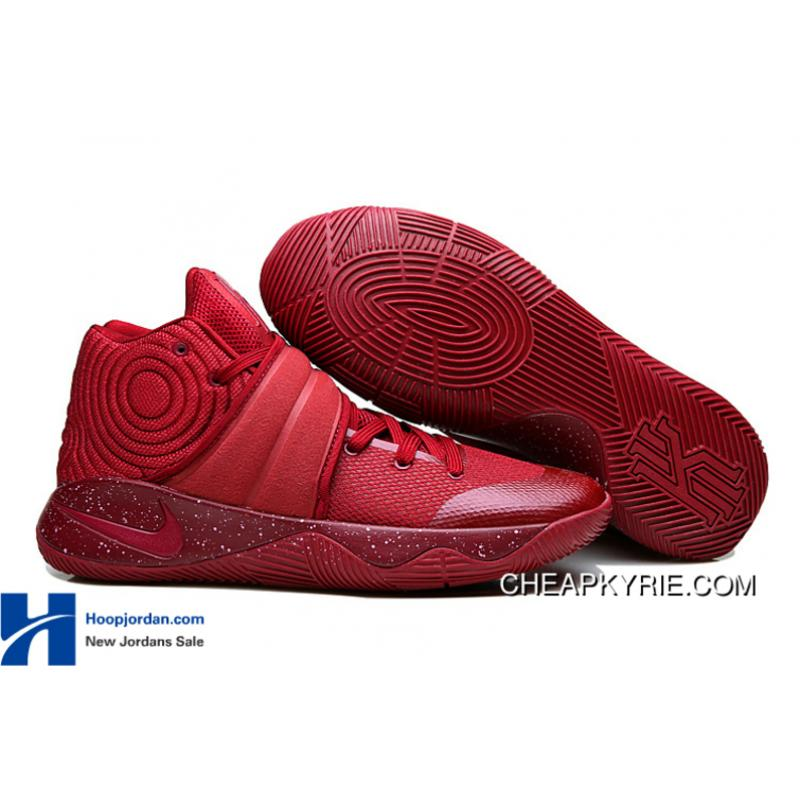 "87436106c13d ""Red Velvet"" Nike Kyrie 2 Team Red Pure Platinium-Black For Sale  "" ..."