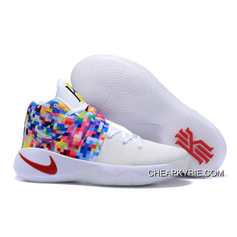 "genio dramático Solenoide  Rainbow"" Nike Kyrie 2 White-Red/Multi-Color Lastest , Cheap Kyrie Shoes  Online - Free Shipping"