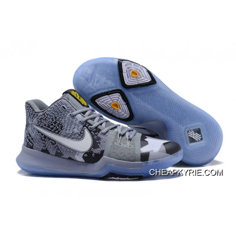 Cheap Nike Kyrie 3 EYBL Cool GreySailBlack For Sale Latest