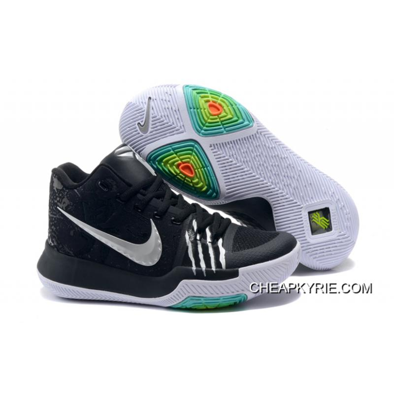 Cheap Nike Kyrie 3 Bruce Lee Black Silver For Sale Free Shipping