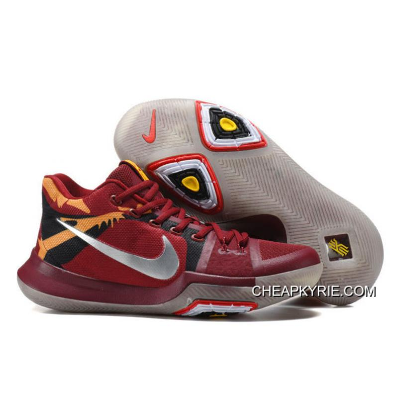 Nike Kyrie 3 Cavs Red Yellow Silver Glow In The Dark Sole For Sale Top Deals