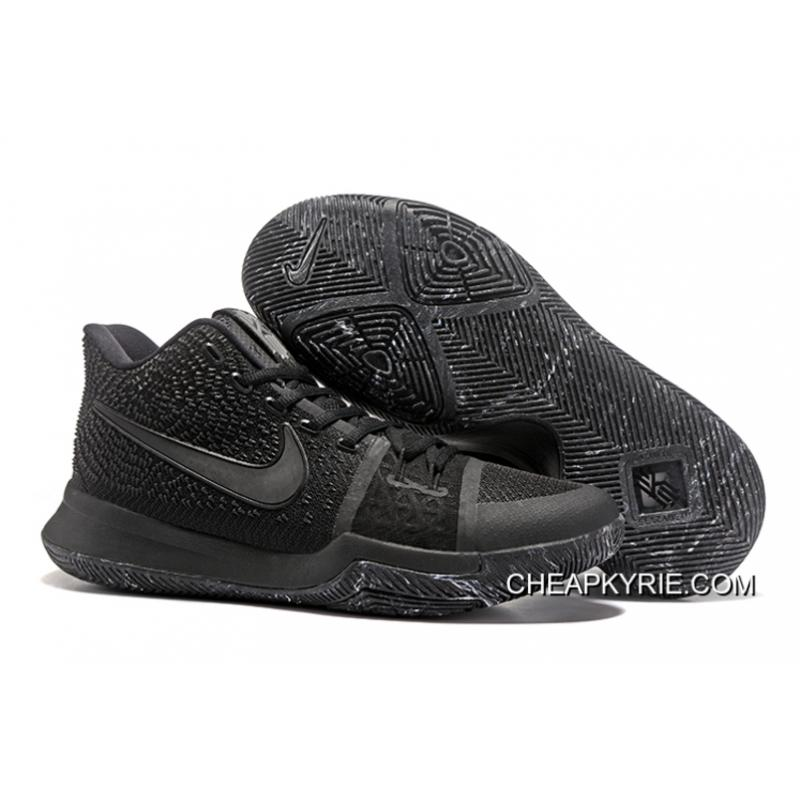 """outlet store 41ba2 0989d Nike Kyrie 3 """"Triple Black""""Sneakers On Sale Cheap To Buy"""