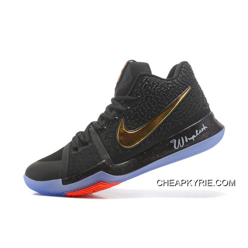 ... New Released Nike Kyrie 3 Black Gold Red NBA Finals High Quality  Discount ... fc6d5efc6