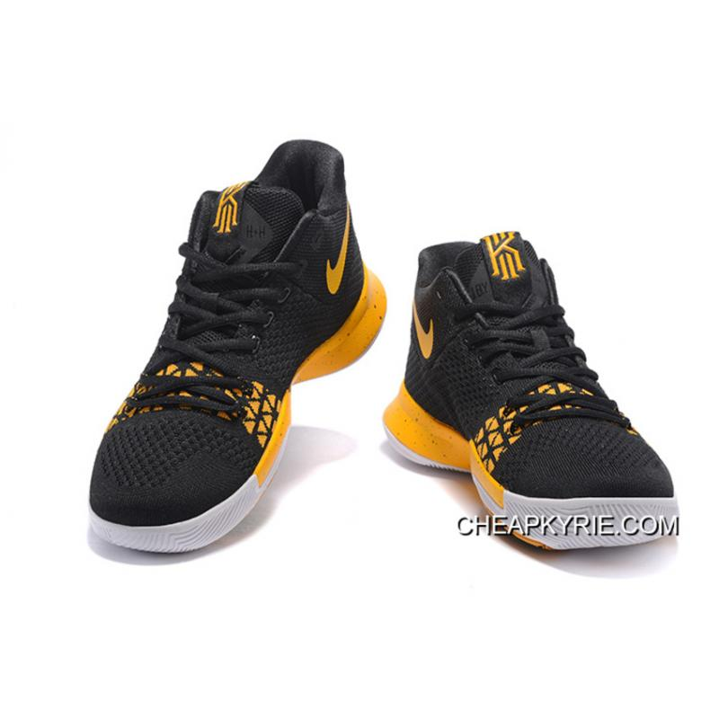 """brand new a879f fc6cb Nike Kyrie 3 """"Black Yellow"""" New Release"""