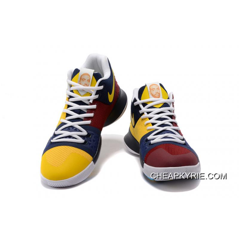 """new arrival 159f1 e1301 Nike Kyrie 3 """"Face Logo"""" PE Basketball Sneakers New Style"""