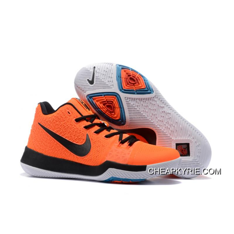 New Men Nike Kyrie 3 Orange Black Shoes