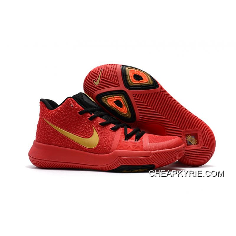 b756cedf5f3e ... discount nike kyrie 3 university red black gold hot sell online 0bc05  6eac6