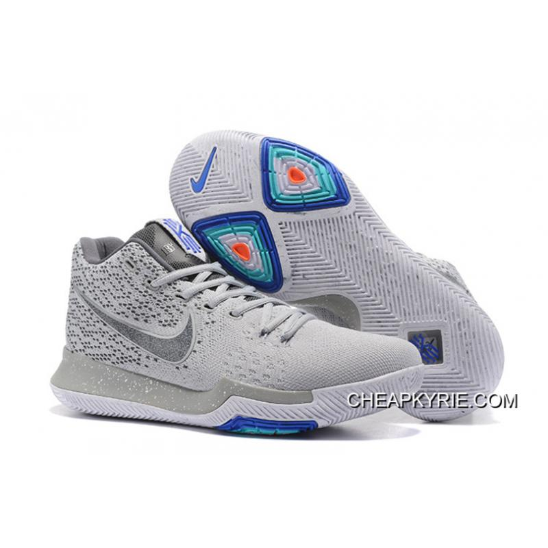 newest collection 26085 9317d Nike Kyrie 3 Wolf Grey/White Online New Style