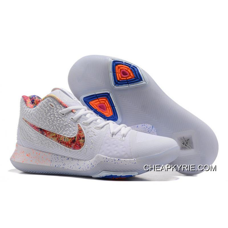"071cd6f4f1c Nike Kyrie 3 ""EYBL"" Pure Platinum Multi-Color-Black On Sale Copuon ..."