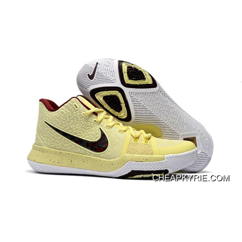 "check out e7fc2 45204 Latest Nike Kyrie 3 ""Playoffs"" PE Sneakers On Sale New Style"